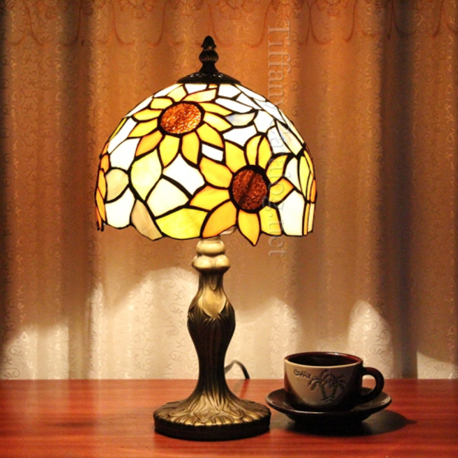 Tiffany sun flower restaurant bedroom desk lamp study room living room for desk lamp pastoral tiffany LED table lamp браслет из кости яка sun flower коричневый 7 5см браслет из кости яка sun flower коричневый 7 5см