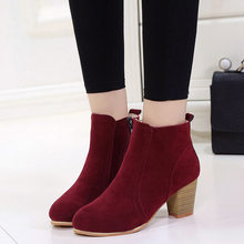 Sexy fashion Ankle Spring Autumn women Boots casual Comfortable Boots zipper High Heels Women Boots shoes women(China)