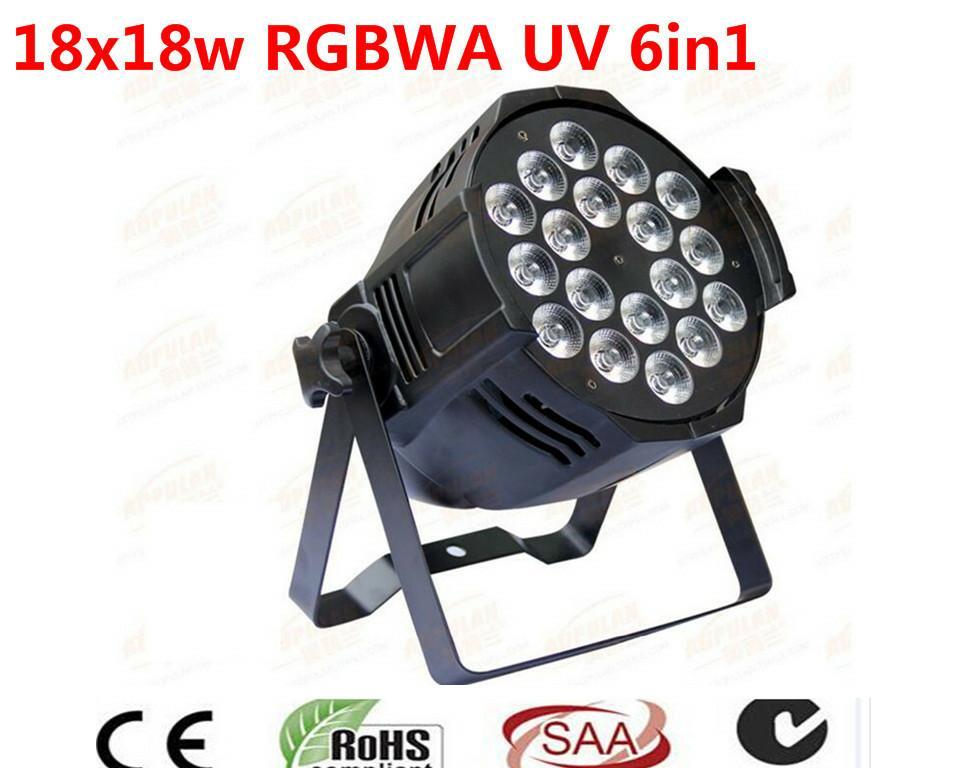 Dj di illuminazione 18x18 w rgbwa uv 6in1 led par luce DMX luce 20 PZ