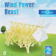 New Creative Puzzle Walking 3D DIY Strandbeest Assembly Powerful Model Wind Powered Walker Kits Robot Toys Children Boys Gifts(China)
