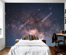 Custom Ceiling Night Moony Way Galaxy Natural Landscape Living Room  Wallpaper