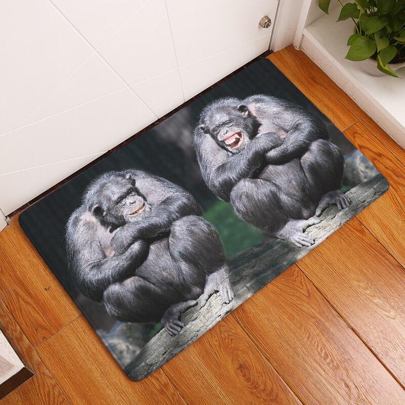2017New Orangutan Print Carpets Anti Slip Floor Mat Outdoor Rugs Front Door  Mats(China