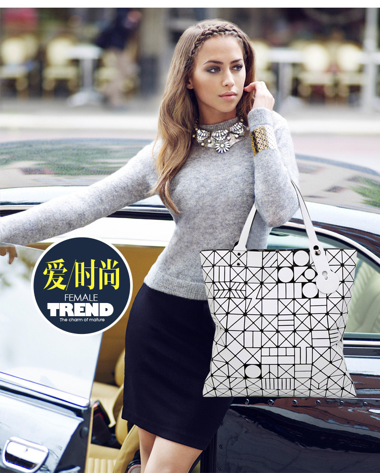 European big tote bao bao bag fashion Handbags 17 Women Hand Bag Luxury Brand Designer Geometric laser baobao Bag ladies 2