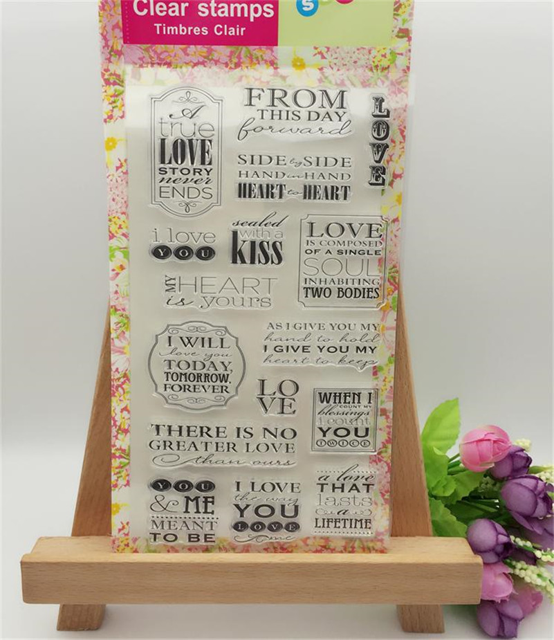 New arrival scrapbooking DIY Transparent Clear about love Rubber Stamp Seal Paper Craft Scrapbooking Decor CL-043 new arrival scrapbooking diy transparent clear flowers trees branch rubber stamp seal paper craft scrapbooking cl 213