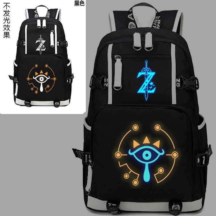 Nouveau la légende de Zelda sac à dos lumineux Cosplay souffle de l'oeil sauvage étudiant cartable unisexe voyage épaule sacs pour ordinateur portable