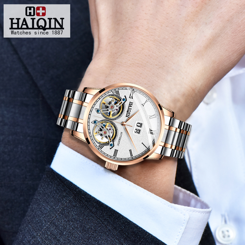 HAIQIN Men s watches Mens Watches top brand luxury Automatic mechanical sport watch men wirstwatch Tourbillon HAIQIN Men's watches Mens Watches top brand luxury Automatic mechanical sport watch men wirstwatch Tourbillon Reloj hombres 2018