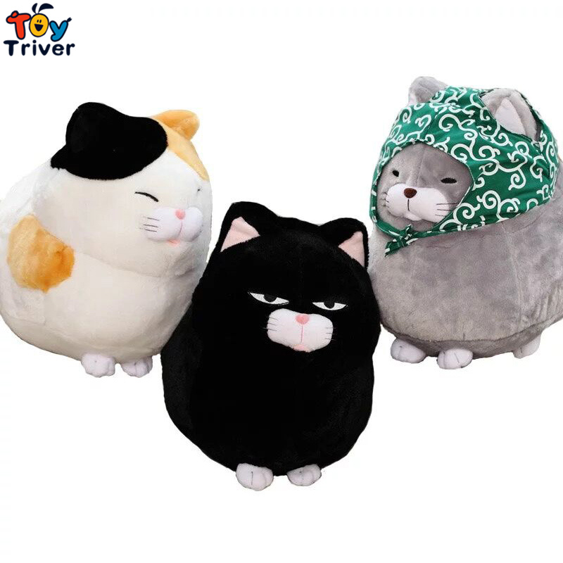 Plush Japan Amuse Fortune Cat Lucky Cats Toy Stuffed Doll Kids Birthday Gift Shop Home Decor Maneki Neko Keychain Pendant Triver lps lps toy bag 20pcs pet shop animals cats kids children action figures pvc lps toy birthday gift 4 5cm