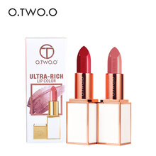 O.TWO.O NEW Matte Lipstick Smooth Waterproof Moisturizer Long Lasting Sexy Lips Makeup Brand 24 Colors Pigment Lip Stick Make Up