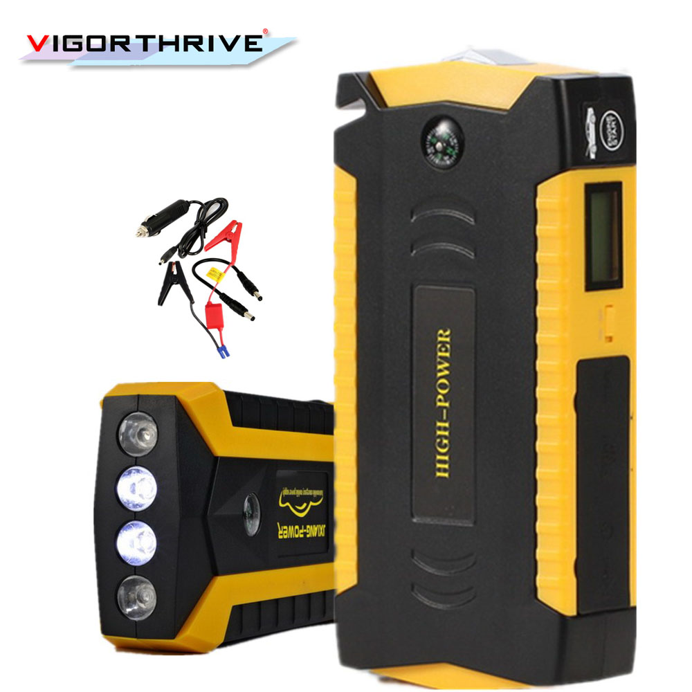 Multi-function For Petrol Car Mobile Phone 2018 New Mini Car Jump Starter Power Bank 12V Portable Emergency Battery Charger
