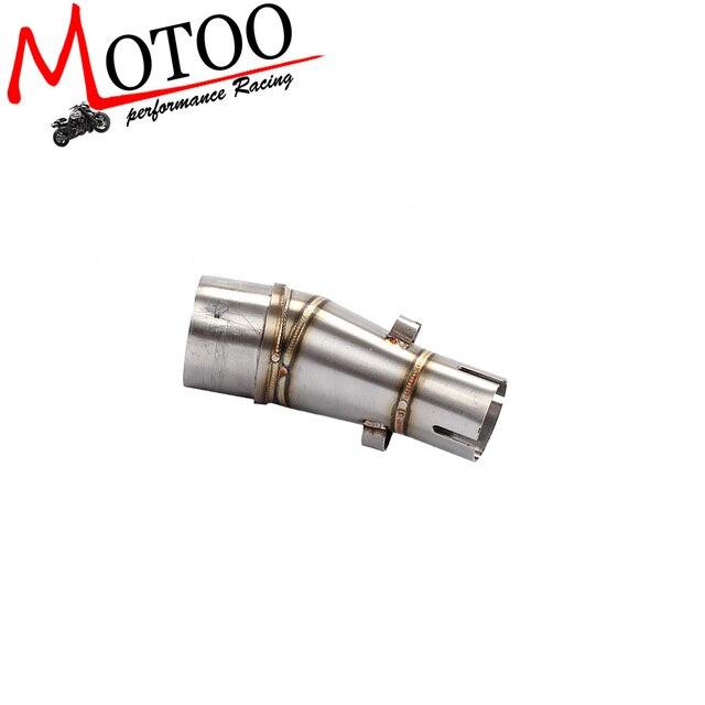 Exaustão da motocicleta silenciador tubo de Ligação do meio para a Kawasaki Ninja Z250 z300 250R Ninja 250 Ninja 300 2008-2017 ligação pipe