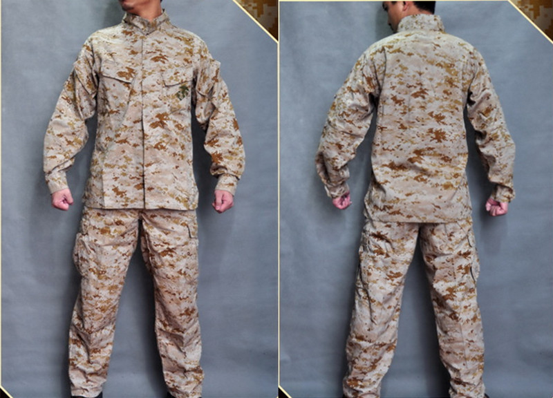 ALLWIN MARARMOR Tactical SET USMC Desert Digital Combat Set shirt pants BDU Military clothing ( with the protective pads ) usmc digital urban camo v3 bdu uniform set war game tactical combat shirt pants ghillie suits