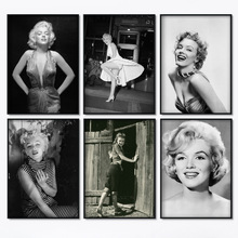 Marilyn Monroe Black White Wall Art Canvas Painting Character Nostalgic Posters And Prints Pictures For Living Room Decor