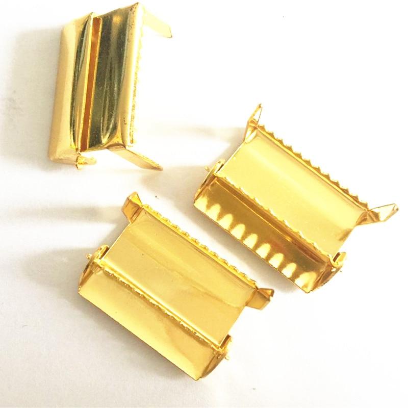 Silver/gold 25mm 1 10mm metal Adjustable Buckle Leg Ratchet Hardware For Suspender Paci Pacifier Clip Belt Diy Diligent 30pcs /lot