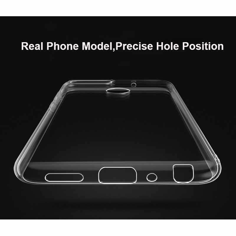 WeeYRN Transparent Soft Glossy Phone Case Huawei P Smart / Y9 2018 Funda Clear Ultra thin Silicone TPU Cover Huawei Honor 7A Pro