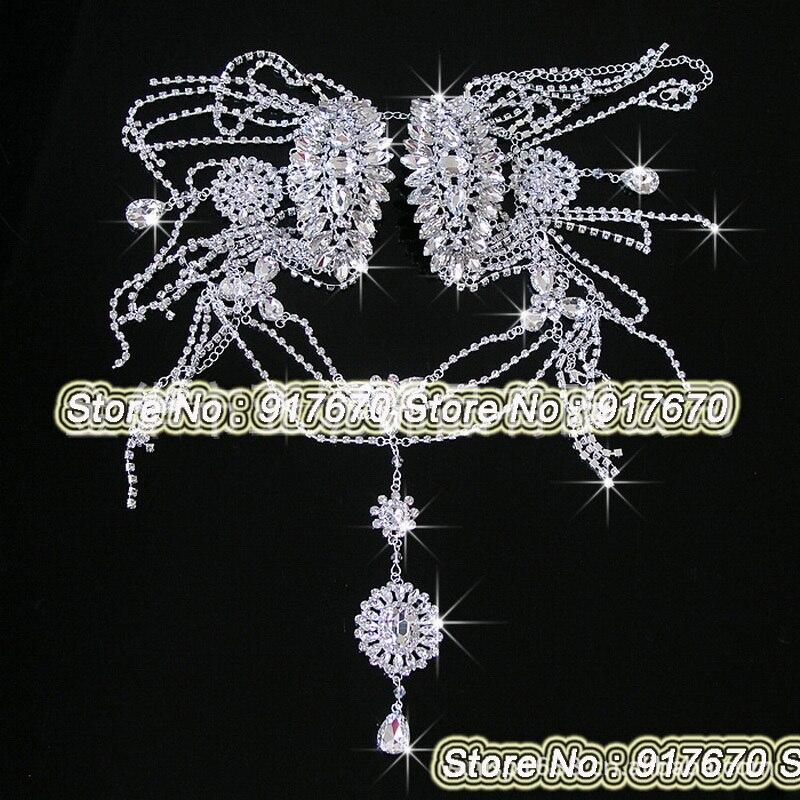 Luxury bridal rhinestone shoulder applique Jackets 95d9b766f8c2