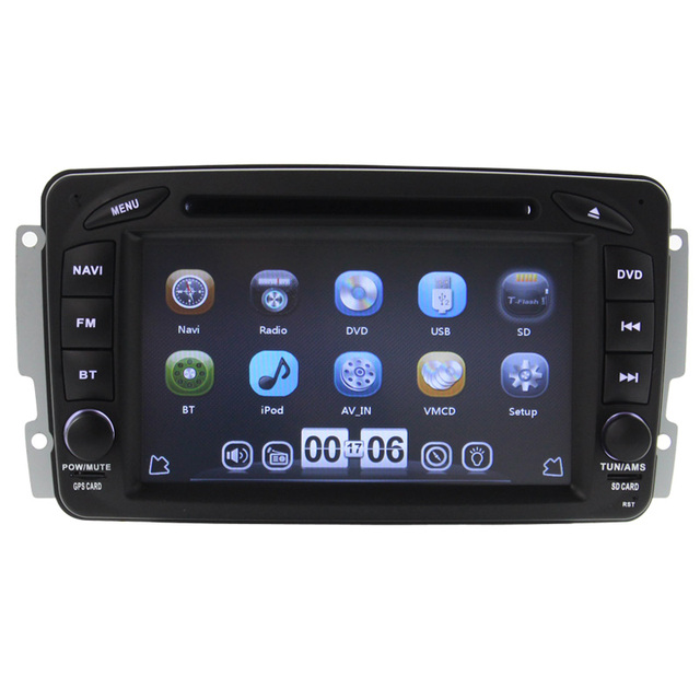 NEW arrive car accessories car dvd player for mercedes W203 old version can bus steering wheel control bluetooth RDS free map