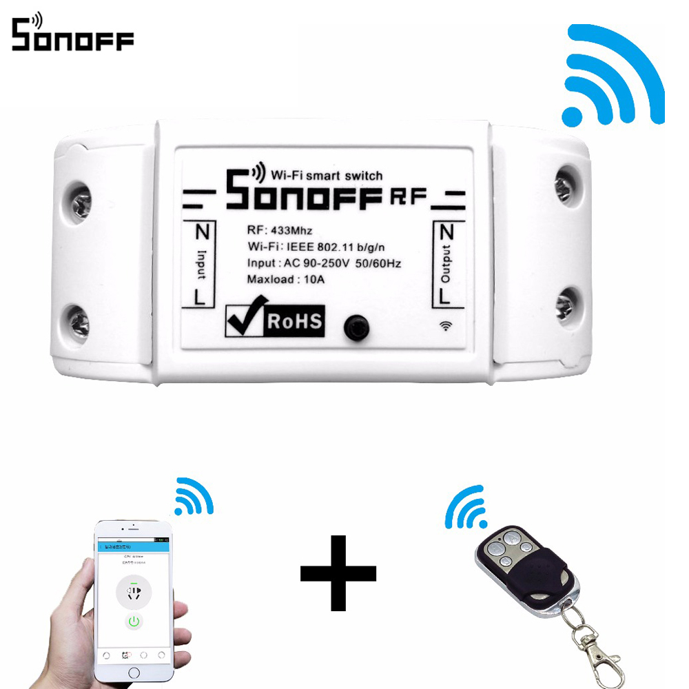 Sonoff Rf Wifi Wireless Smart Switch With Receiver For Home Car Audio Amplifier Tda1557q Tda1553q Interruptor 433mhz Rh Rhedo Com