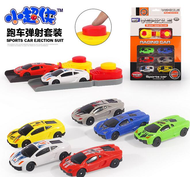 6pcs set car toy model Sliding car random mixed pull back toys Classic toys boy and