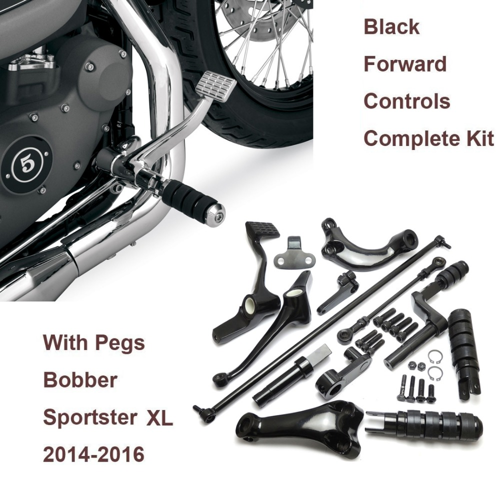Forward Controls Complete Kit Pegs Levers and Linkages For Harley 2014-2016 Sportster XL 883 1200 XL883 XL1200
