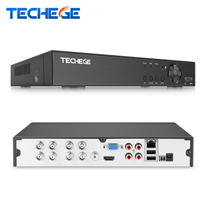 Techege H.264 5 in 1 Security 8CH CCTV AHD DVR 4MP For AHD CVI TVI Analog IP Camera 4.0MP Hybrid Video Recorder 2K Video Output ninivision 5 in 1 security cctv dvr 4mp for ahd cvi tvi analog ip camera 4mp hybrid video recorder 4ch 8ch dvr motion detect