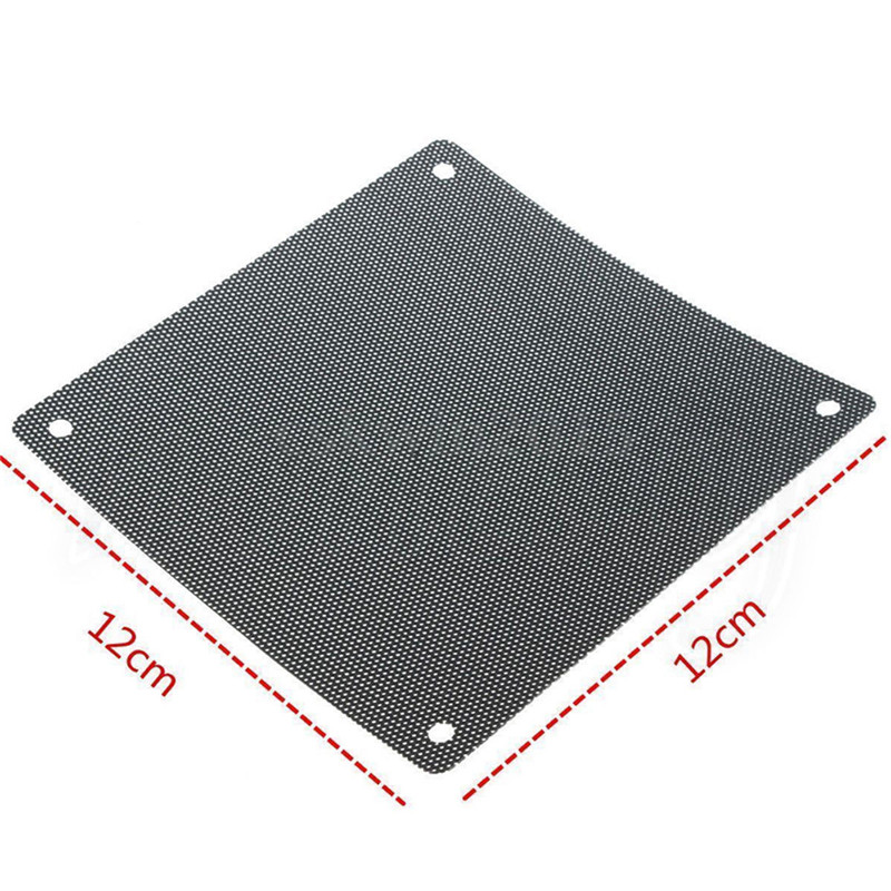 Fashion 5PCS 120mm Cuttable Black PVC PC Fan Dust Filter Dustproof Case Computer Mesh