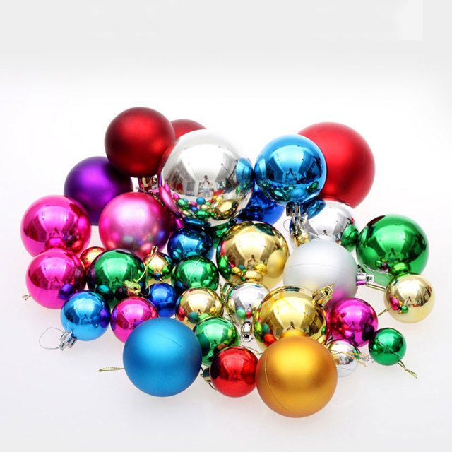 36 pcslot big multicolor christmas balls christmas decorations for home pendant drop ball 2017