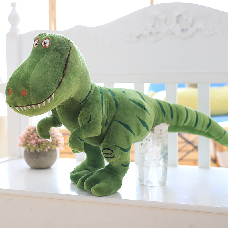 1 шт., 40-100 см, новинка, динозавр, плюшевые игрушки, мультяшный тираннозавр, милая мягкая игрушка, куклы для детей, для мальчиков, подарок на день рождения - Цвет: Зеленый