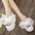 2016 das Mulheres de Verão Chinelos Chinelos Casuais chinelos de Dedo Aberto Sandálias de Salto Alto Chinelos Cunhas Femininos Plataforma Sapatos de Praia mulher