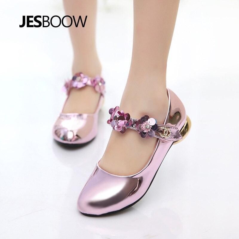 Meisje bloem strass prinses schoenen Gevormde hiel schoenen Dansende - Kinderschoenen - Foto 4