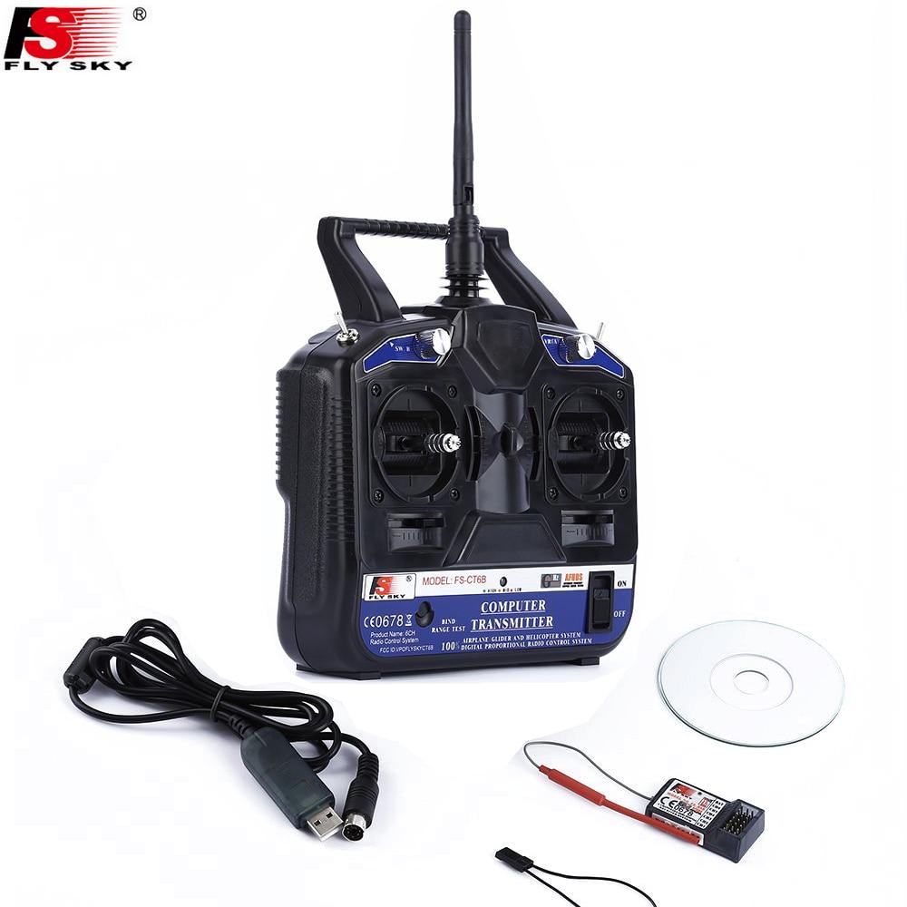 FlySky FS-CT6B FS CT6B 2,4 г 6CH радио комплект Системы (TX FS-CT6B + RX FS-R6B) RC 6CH передатчик + 6CH приемник