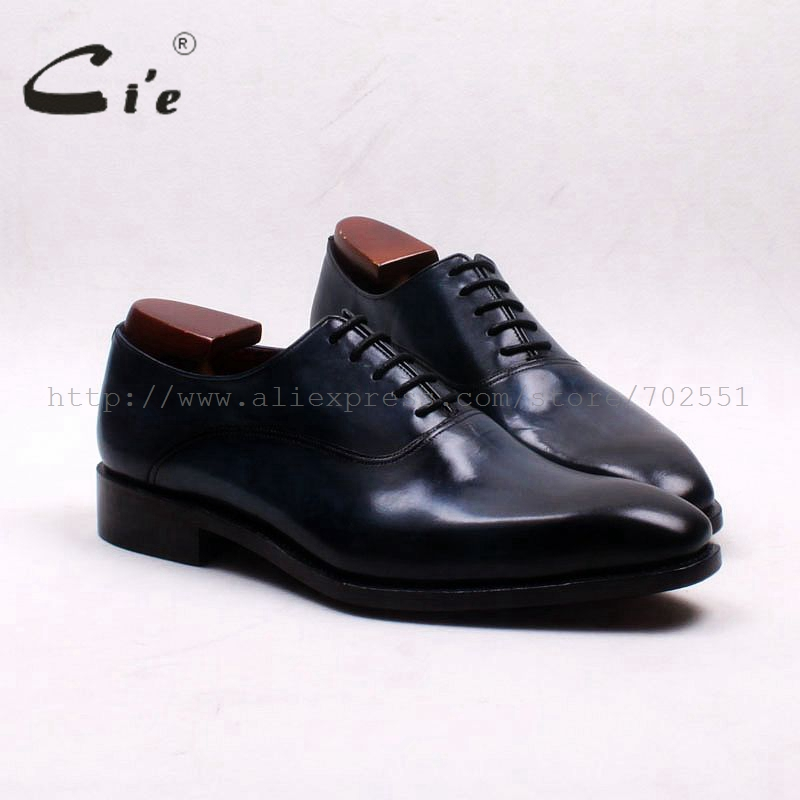 cie Free Shipping Bespoke Handmade Pure Genuine Full Grain Calf Leather Men's Dress/casual Oxford Lacing Color Painted Navy Shoe ems free shipping to avoid the customs duty custom handmade pure genuine calf leather men s dress oxford color red shoe no ox66