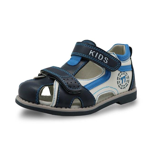 Apakowa резиновые закрытым носком сандалии Мальчиков ортопедических Arch Поддержка детские летние Обувь мальчиков моды сандалии для Малыша детей