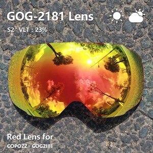 Image 2 - COPOZZ Magnetic Lenses for ski goggles GOG 2181 Lens Anti fog UV400 Spherical Snow Ski glasses Snowboard goggles(Lens only)