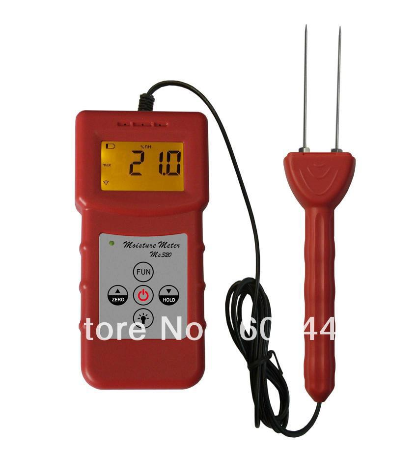 Hot 4 Pcs/Lot Portable High-powder tobacco tester,High-Tech tobacco,tobacco leaf moisture meter quickly and accurately MS320 mc7812 induction tobacco moisture meter cotton paper building soil fibre materials moisture meter