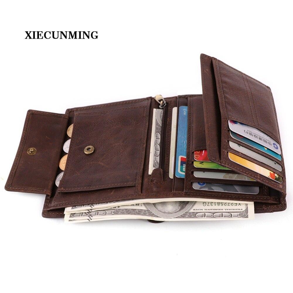 2018 hot sale business retro fashion leather men's wallet ne