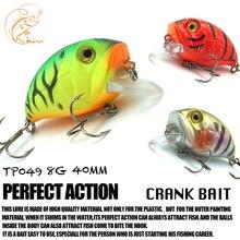 Купить с кэшбэком Thritop New Crankbait Wobbler 4cm 8g 3 Various Colors for Choose TP049 High Quality Lure Artificial Bait Fishing Tools