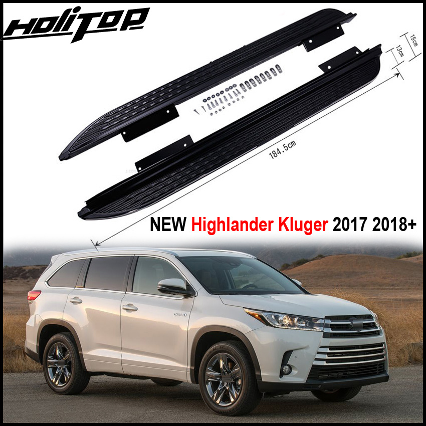New arrival running board side step side nerf bar For Toyota NEW Highlander Kluger 2017 2018+,from ISO9001 factory,recomended