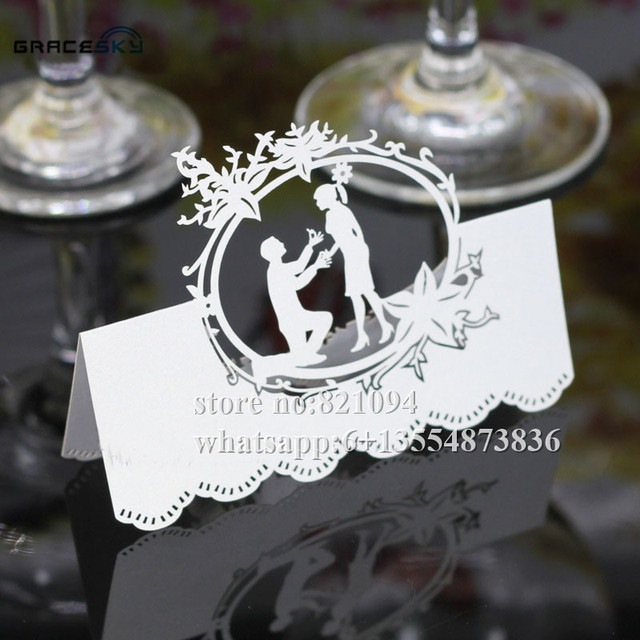 50pcs free shipping new laser cut proposal marriage wedding seat 50pcs free shipping new laser cut proposal marriage wedding seat table invitation cards for party supplies stopboris Choice Image