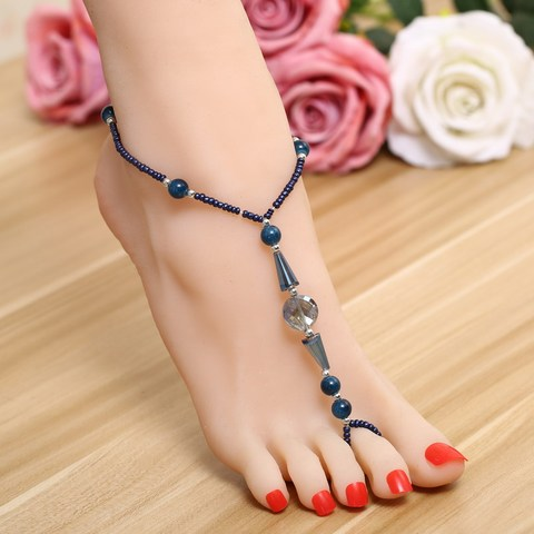 Geometry Foot Harness Barefoot Sandal Beach Anklets for Women Ankle Chain Bracelet Lahore
