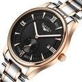 2016 Nova Moda masculina de Quartzo Relógios Homens GUANQIN Marca De Luxo De Couro Relógio Ocasional Relógios reloj hombre Relogio masculino