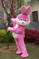New Pink Rabbit Mascot Costume Suits Cosplay Party Game Dress Outfits Clothing Advertising Carnival Halloween Christmas Easter