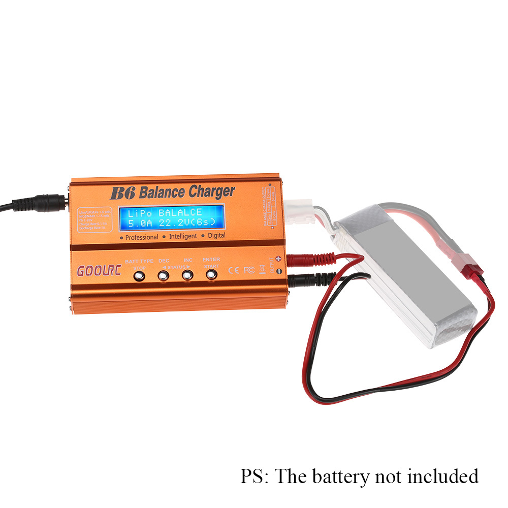 GoolRC B6 Mini Multi-functional Balance Charger Discharger for LiPo Battery Lilon LiFe NiCd NiMh Pb RC Battery RC Car Parts Dron (14)