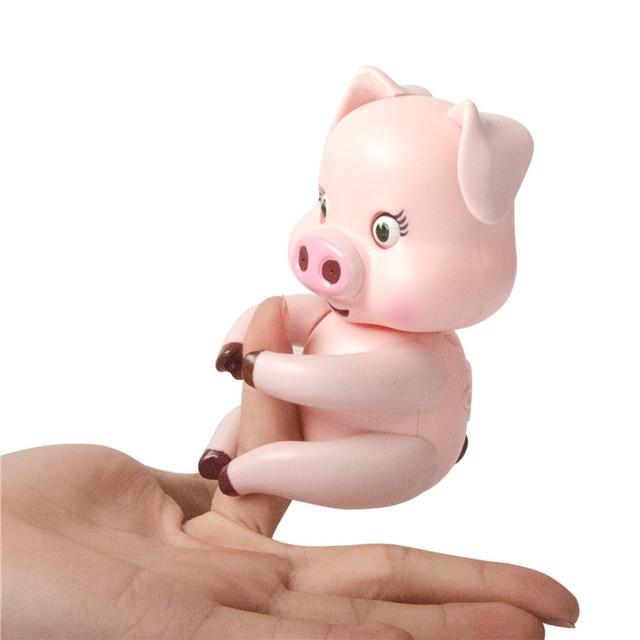 New Funny Cute Fingerlings Interactive Finger Pig Smart