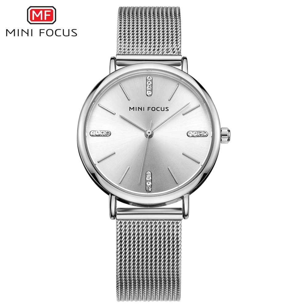 MINI FOCUS Silver Women Watches Stainless Steel reloj mujer Top Brand Luxury Clock Ladies Quartz Wrist Watch Relogio Feminino стоимость
