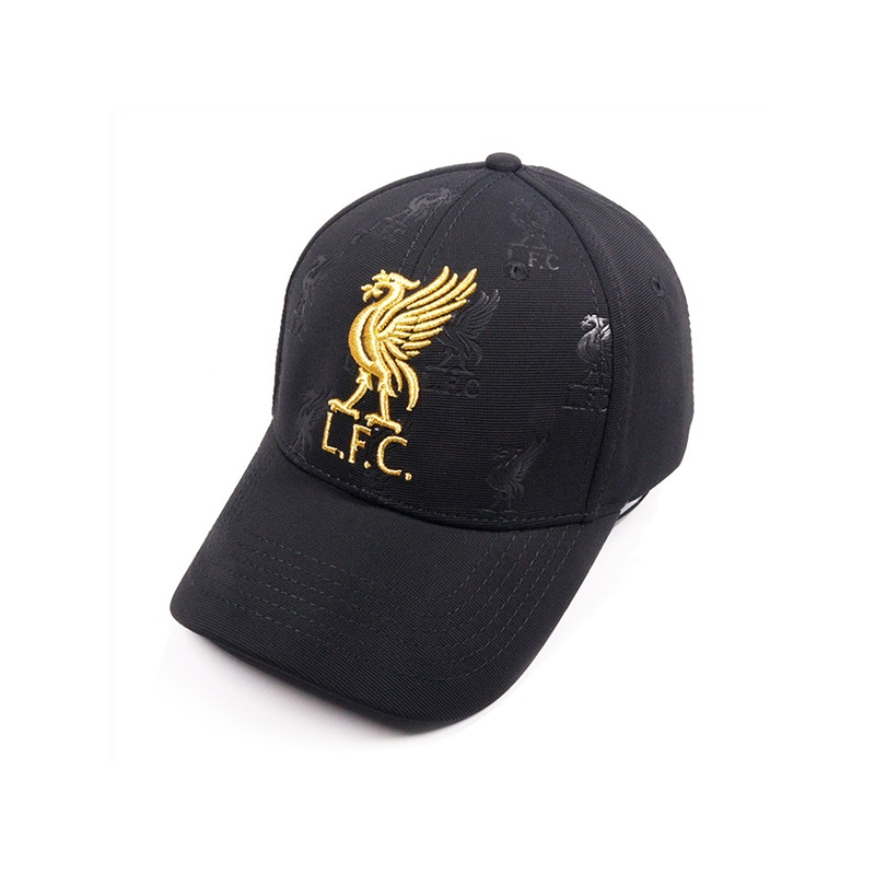 Unisex 2019 Madrid Liverpool FC Sun Cool Hat Gold Embroidery Adjustable   Baseball     Caps