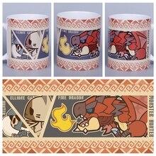 d0b5e34ffa Anime Jogo MONSTER HUNTER MHW JK  Cosplay MUNDO Caneca de Cerâmica Dom Copo  de Bebida Diária