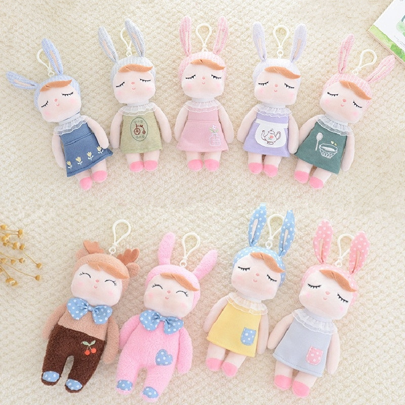 Lovely Cute Animals Rabbit Plush Doll Baby Calm Sleep Pillow Stuffed Toy Nordic Style Kids Room Bed Backpack Decor Photo Props tales of xillia elise lutus teepo plushie handmade stuffed plush toy cosplay props 45cm