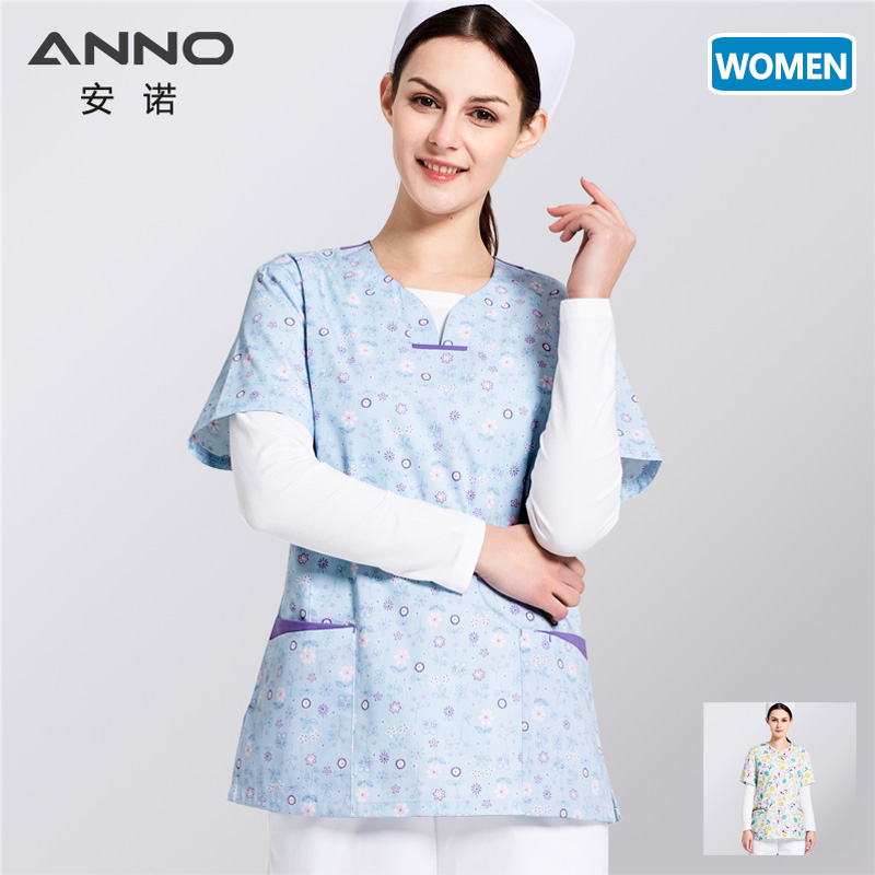 ANNO Medical Clothing For Women Men Hospital Uniforms Medical Grown Surgical Suit Nursing Scrubs Set Top Trousers Optional