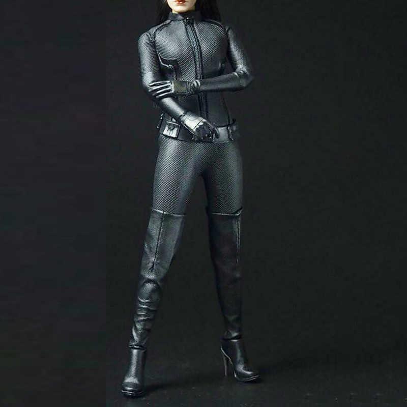 """Sexygirl 1/6 Schaal accessoires Cool Zwart Pak CATWOMAN Catherine Kleding Outfit Set F 12 """"Vrouwelijke Action Figure Pop Lichaam speelgoed"""