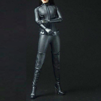 Sexygirl 1/6 Scale accessories Cool Black Suit CATWOMAN Catherine Clothing Outfit Set F 12 Female Action Figure Doll Body Toys